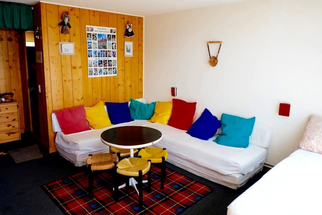 Joli studio Arc 1600 plein sud au pied des pistes - Bourg-Saint-Maurice - Apartment