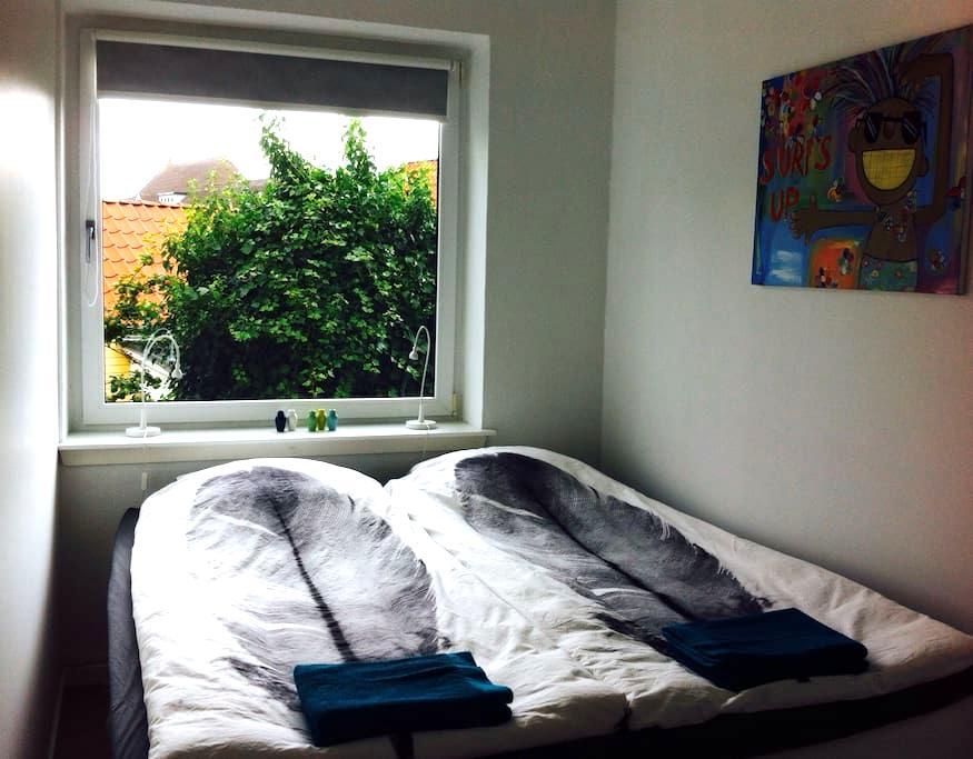 Stort og hyggeligt værelse med eget bad og indgang - Nørresundby - Haus