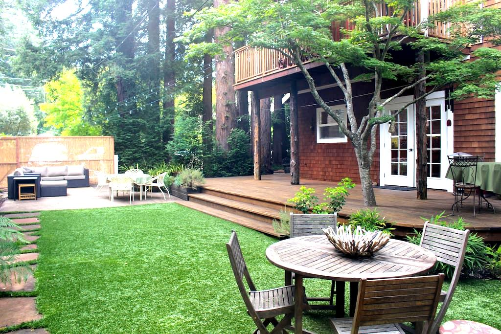 Private Redwood Grove Retreat in Downtown Larkspur - Larkspur - Haus
