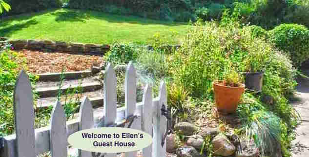 Welcome to Ellen's Guest House Gardens in back. FB Ellen's GuestHouse, Richmond, CA