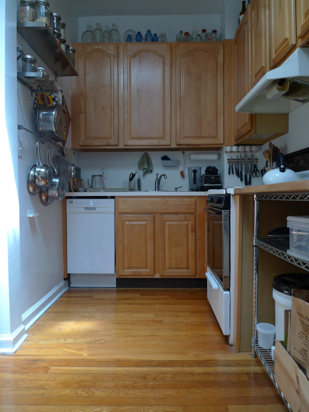 kitchen with dishwasher and skylight