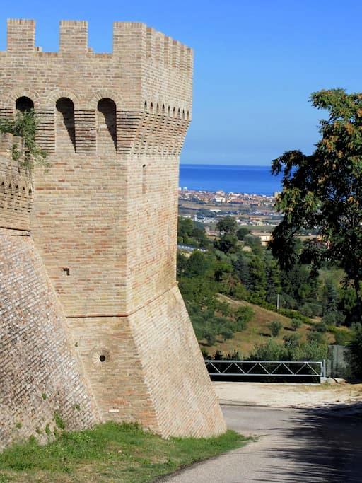 Camera con vista sulle colline - Scapezzano