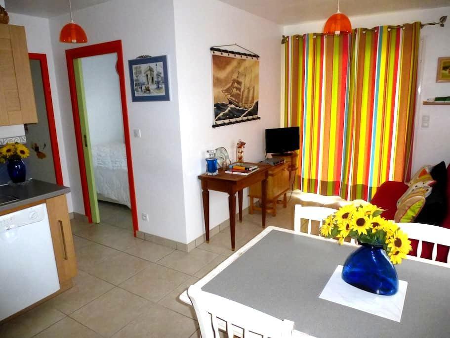 Joli studio calme avec grand jardin - Cauneille - Apartamento