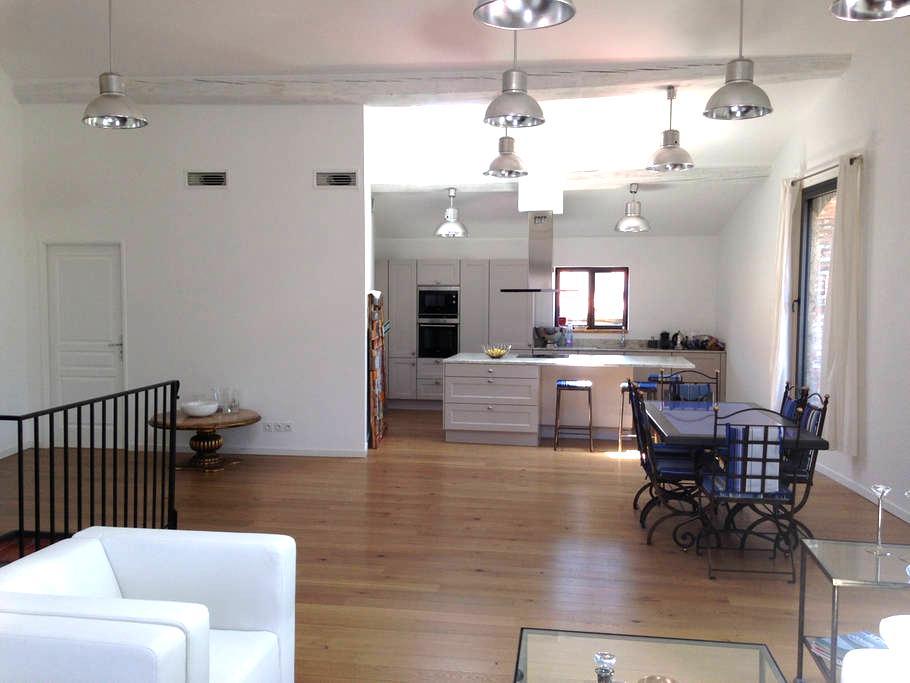 Apt Type loft 150 m2 Terrasse à 10mns de Collioure - Laroque-des-Albères - アパート