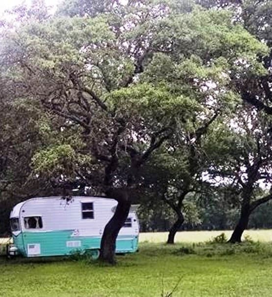 NEW Shasta camper under the oaks
