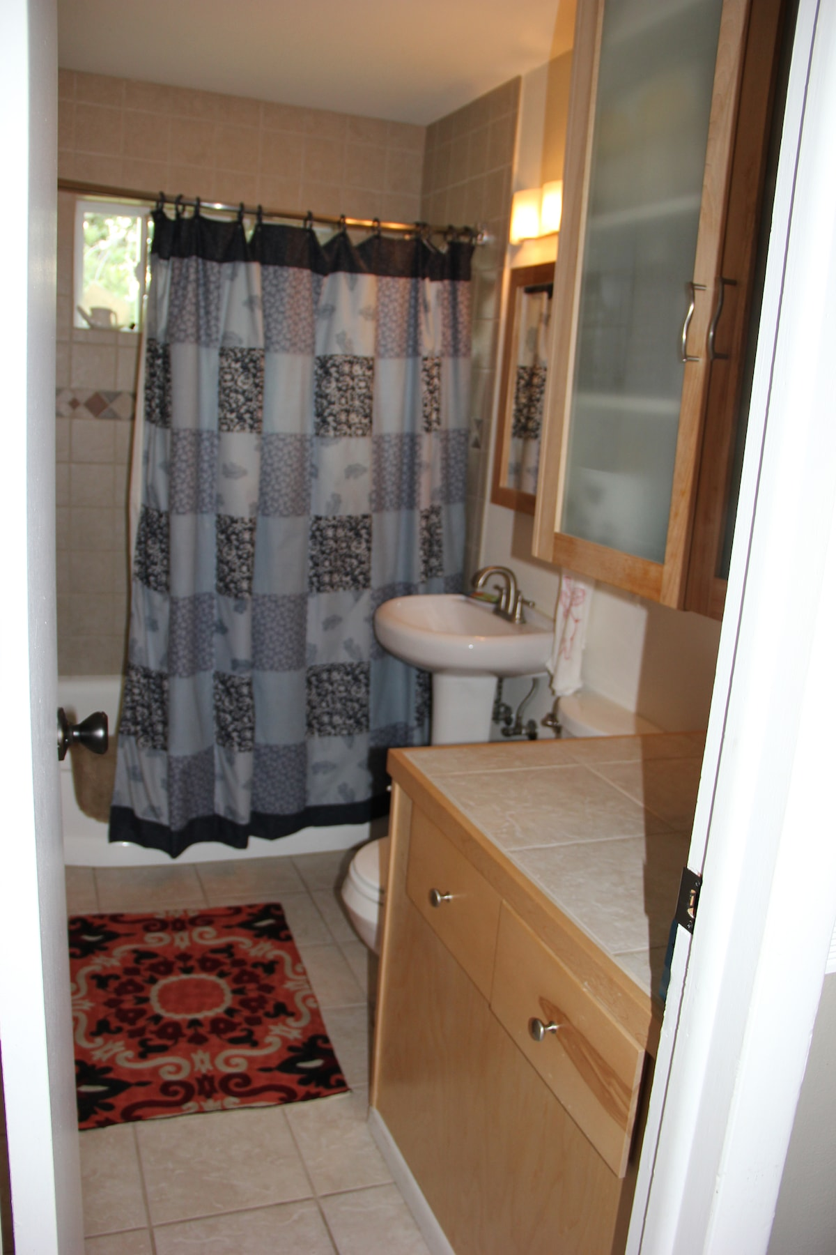 Refinished, clean bathroom
