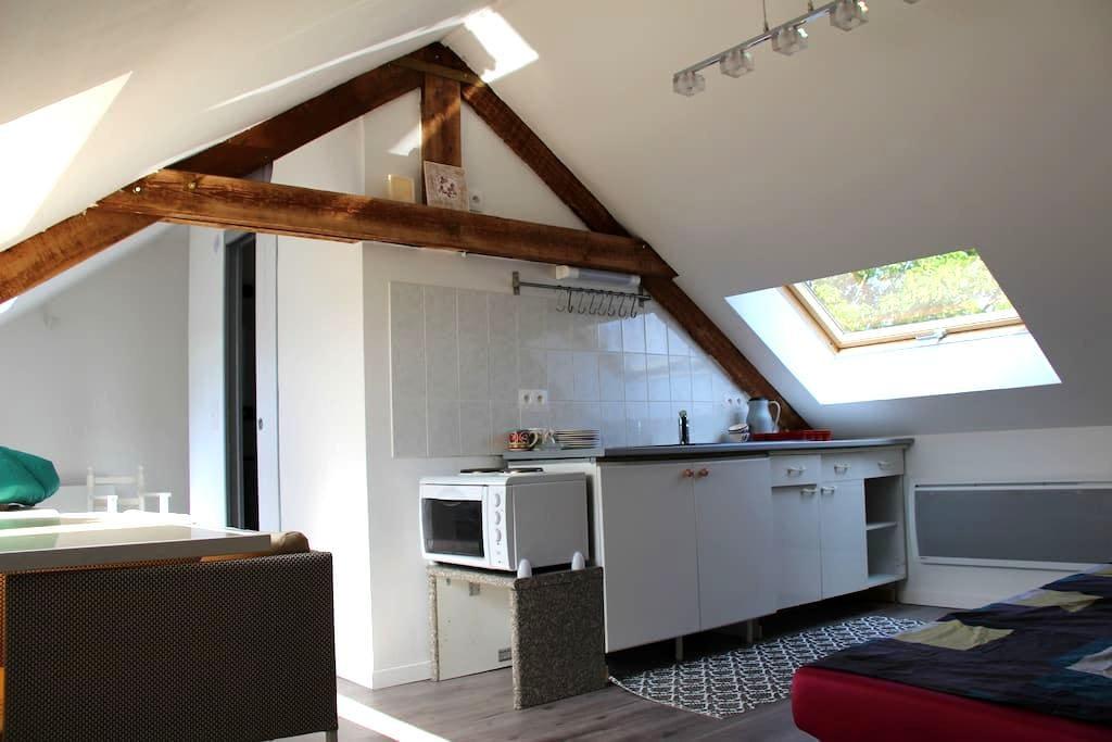Studio 4 couchages, 15 kms de Lille sans vis à vis - Beaucamps-Ligny