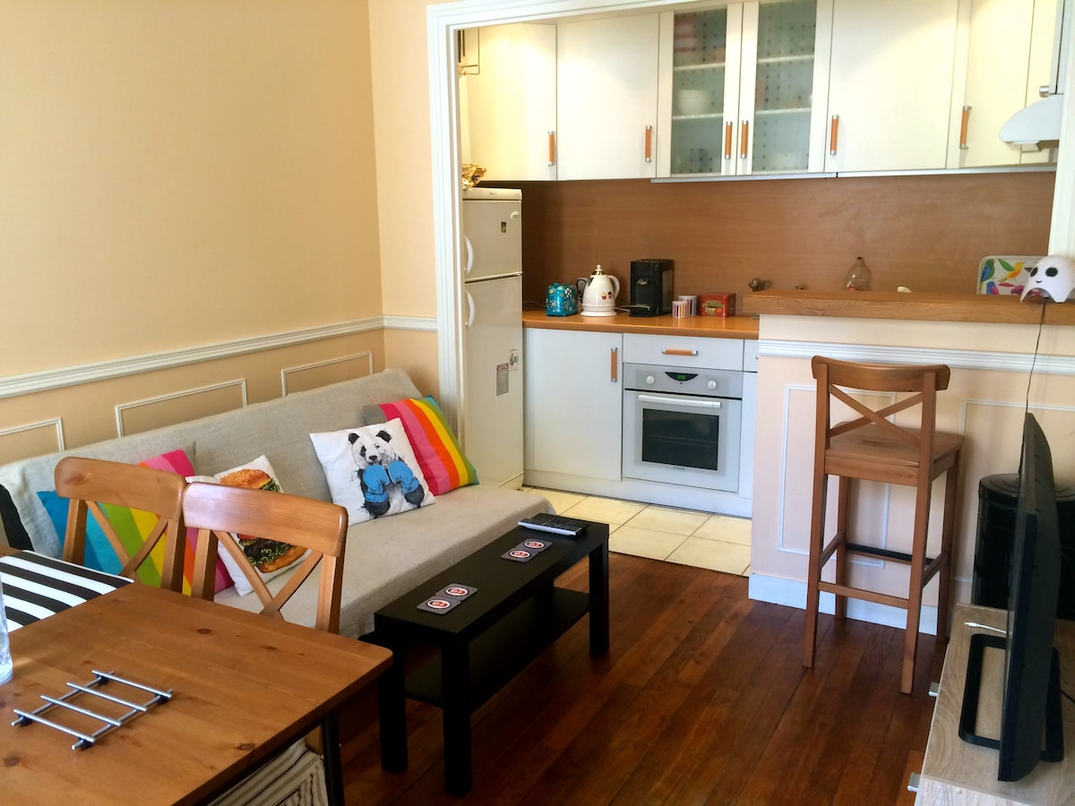 2-room flat / 15' from Eiffel Tower