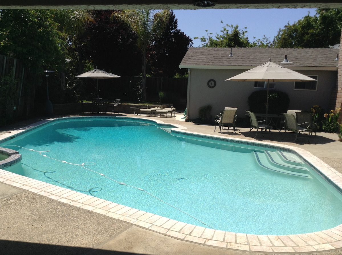 Private Pool House in S San Jose