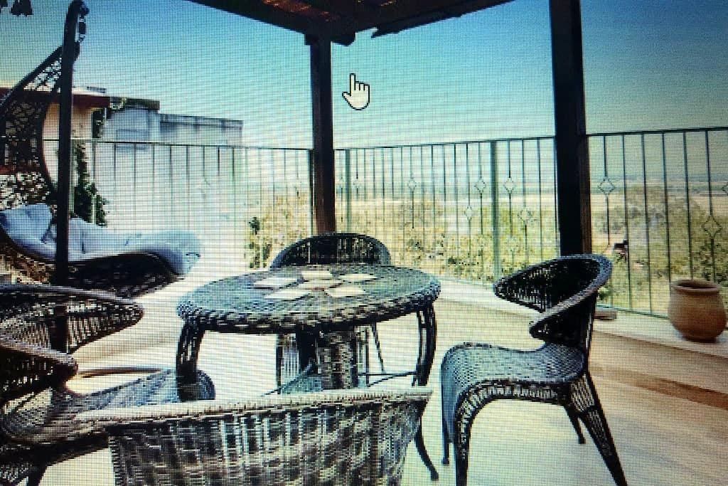 Whole kibbutz apartment, view of the sea - Kabri - Apartment