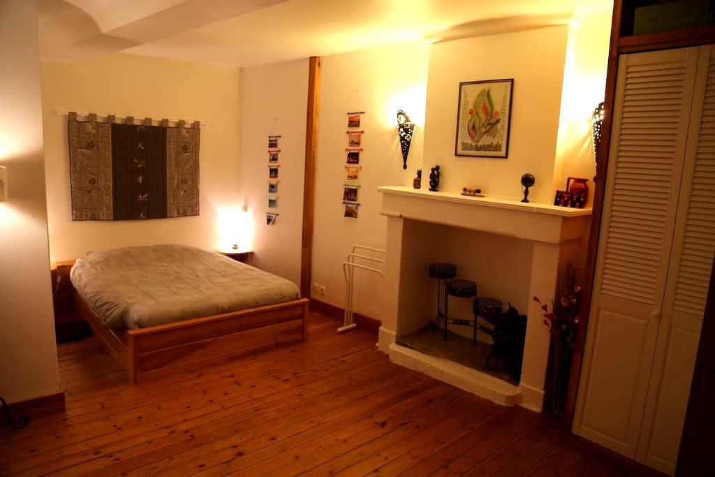 Chambre 2 lits double salle de bain - Ifs - Дом