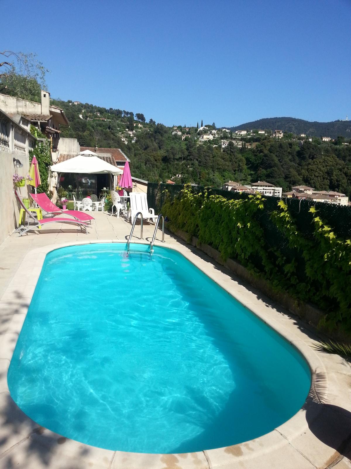 Villa avec piscine à 10 min de Nice