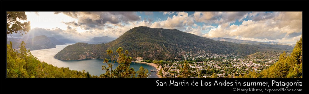 San Martin de Los Andes and Lake Lacar in summer, from the viewpoint!
