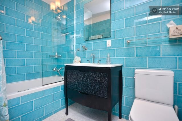 Private en suite deluxe bath with deep whirlpool tub
