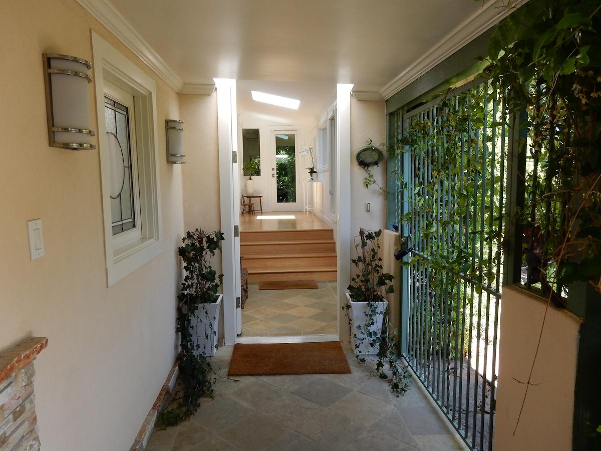 Entry walk-way and front door
