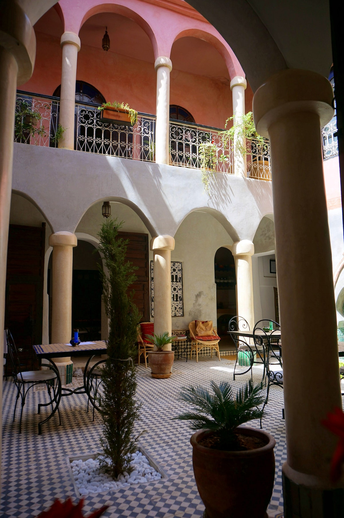 View through the Arches - Courtyard