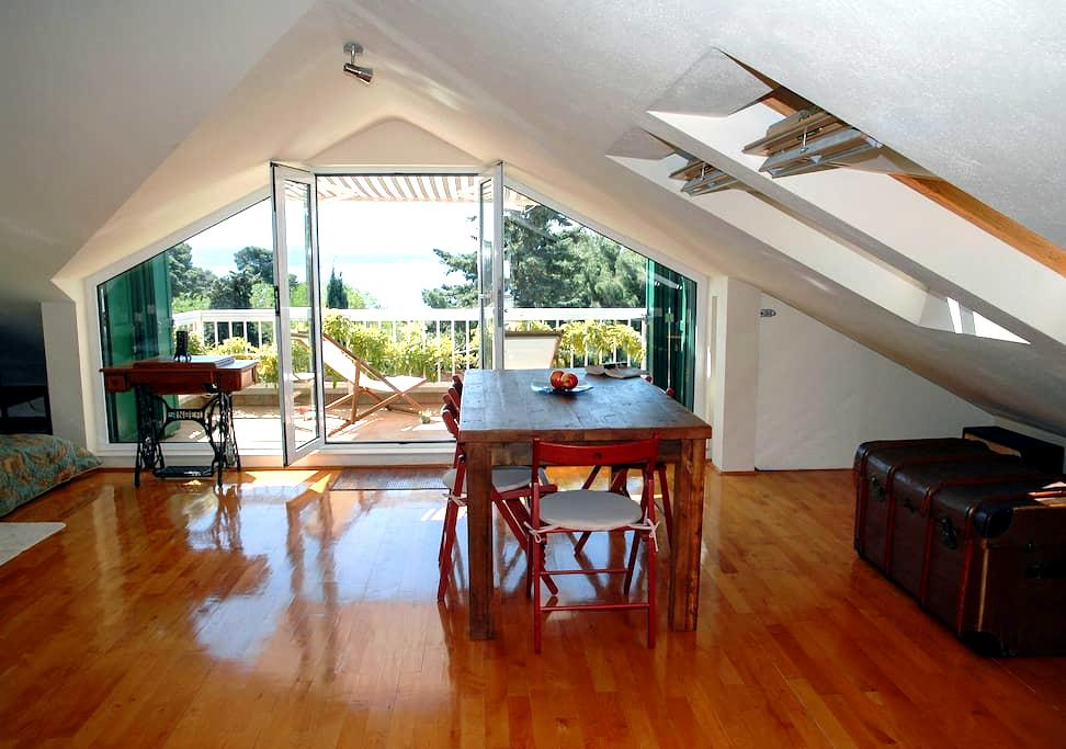 Island view loft studio near beach - Split