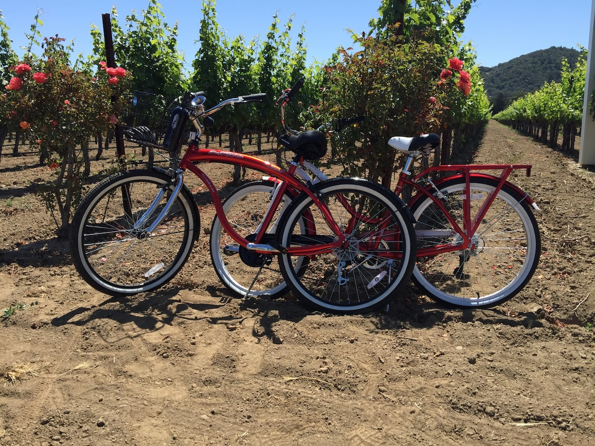 Biking makes it very easy to visit local wineries.