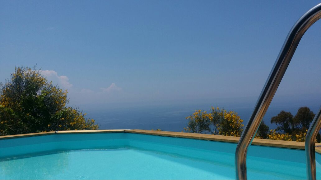 Private swimming pool with sea view!!!!