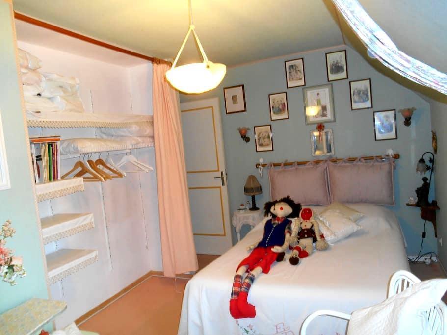 Chambre cosy av dou/wc privés.proche de Paris - Limay - Hus