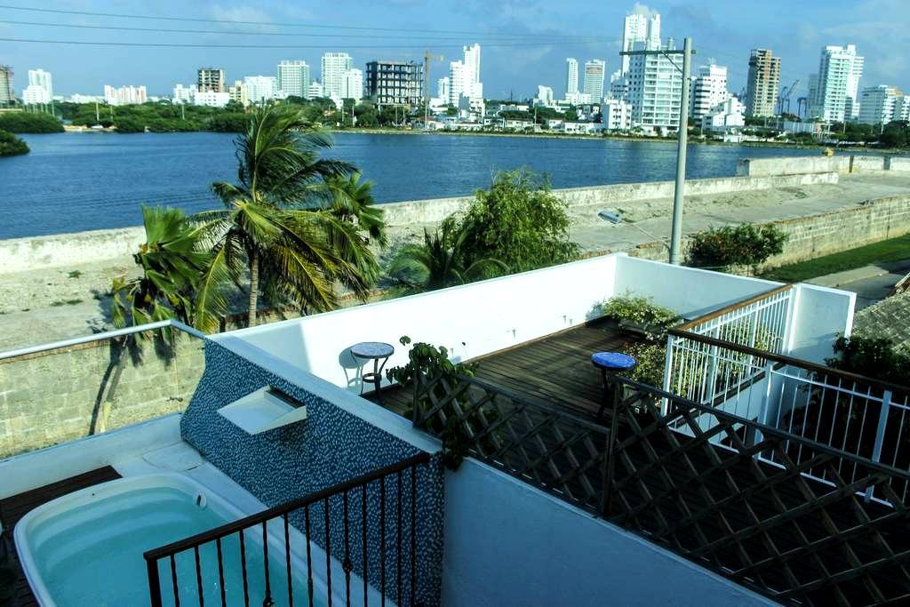 Encantadora habitacion - centro - Jacuzzi privado - Cartagena - Slaapzaal