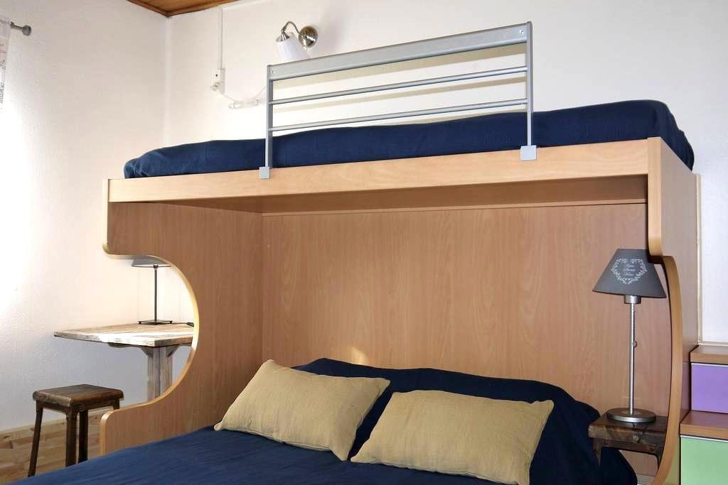 Private room 3 people with Bathroom - Targassonne