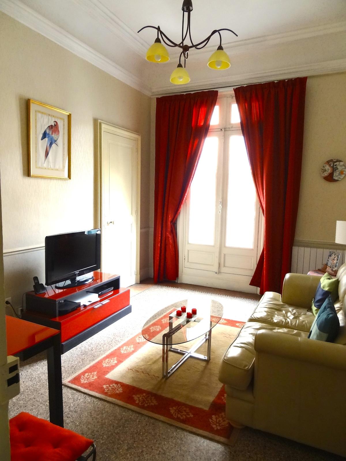 Art nouveau apartment in Beziers.