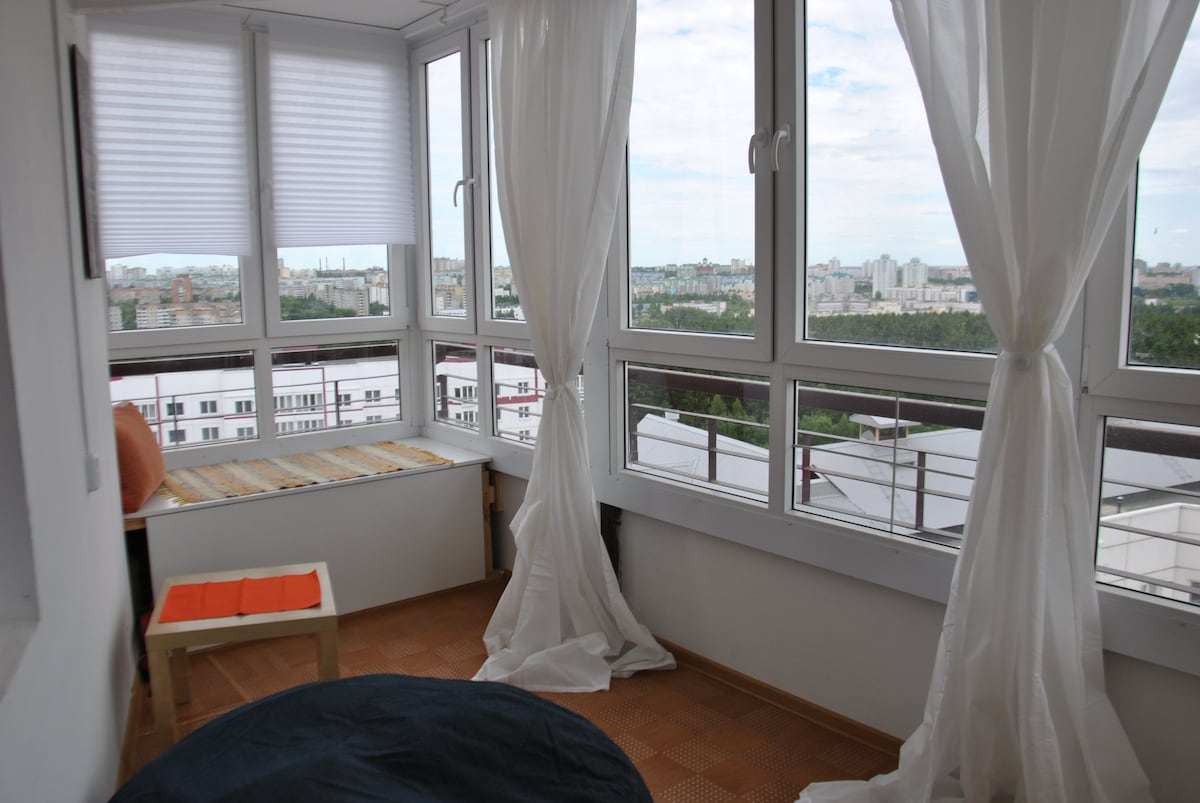 Апартаменты с 2cпальням и террасой!