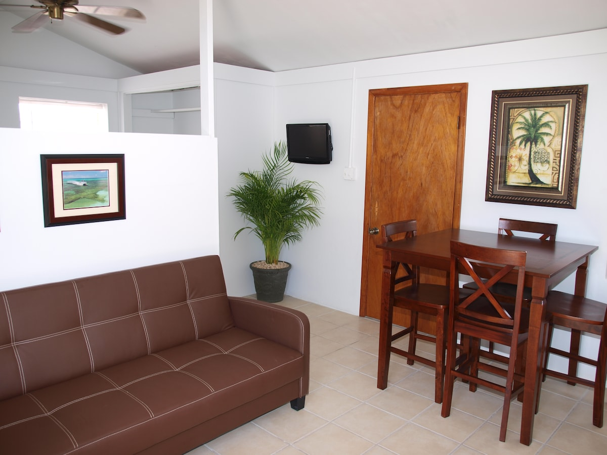 Clean, Comfortable Guest House with Wall mounted flat screen TV