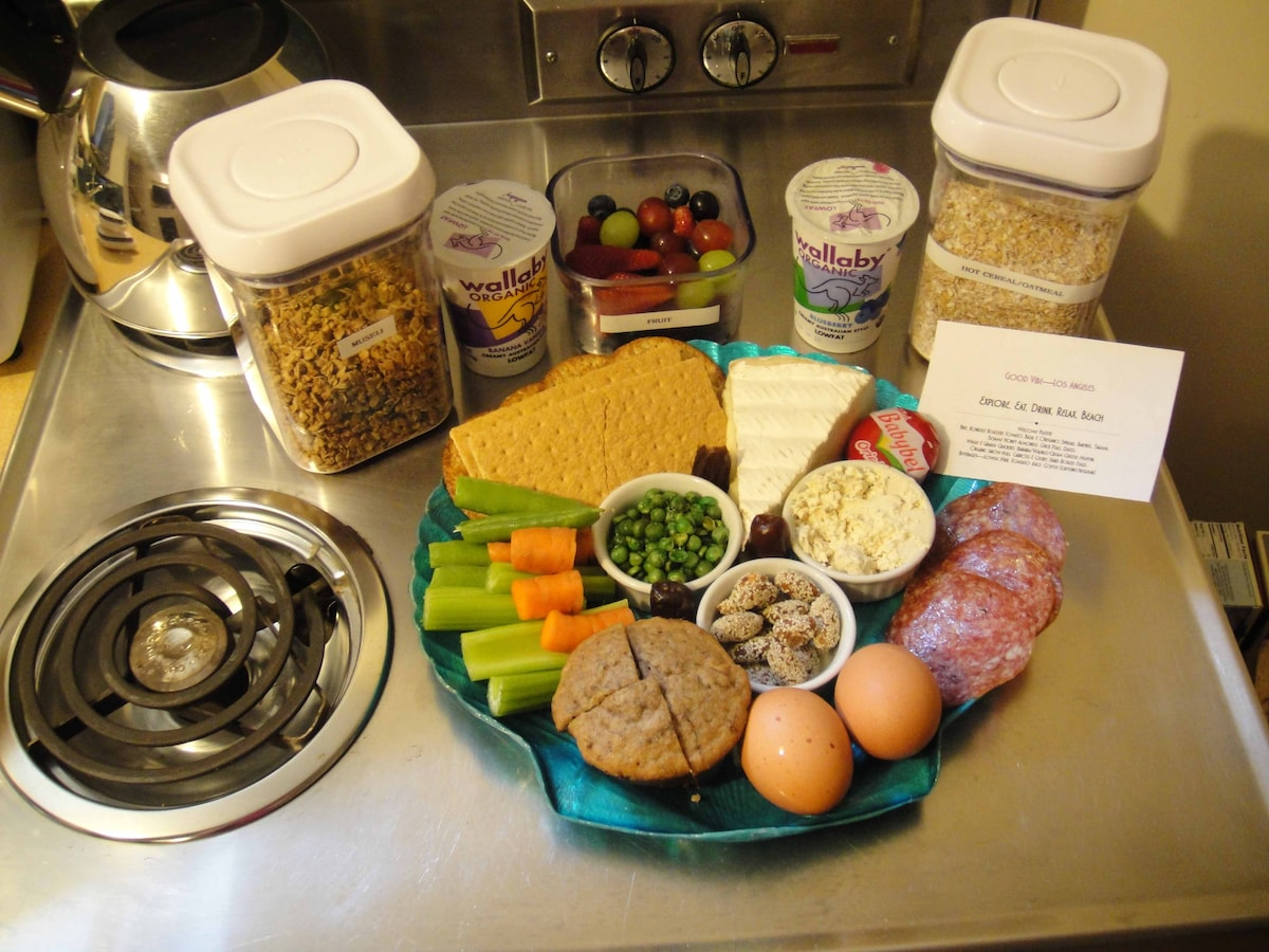 Good Vibe Welcome Snack Platter & Starter Fuel
