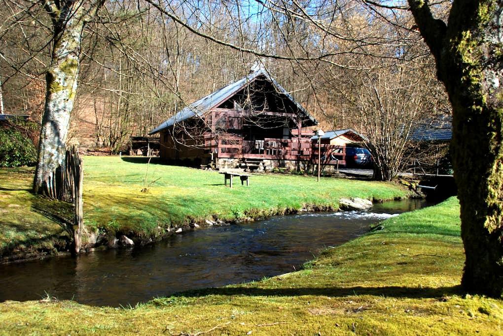 Chalet aan bosrand en riviertje - Bièvre (Graide) - Hytte (i sveitsisk stil)