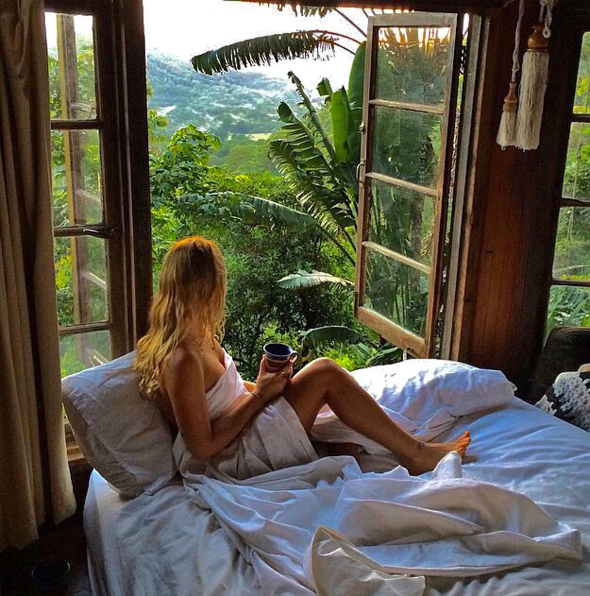 I wake up in the morning surrounded by the tranquility of the wild jungle rainforest. I am in bliss.