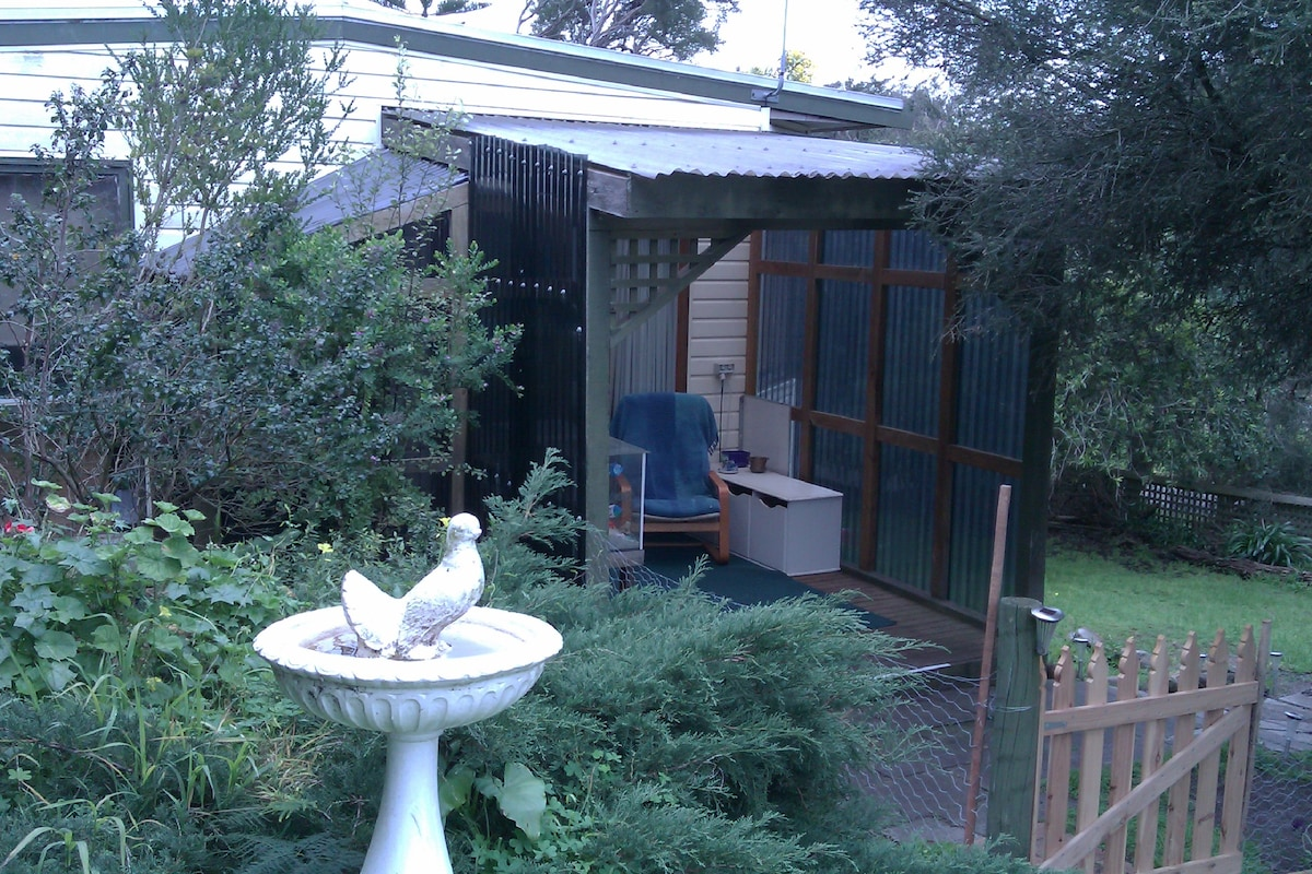 The birds are  encouraged  to visit the garden