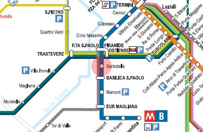 10 minutes walking to Metro Station Garbatella, Ostiense Station to Airport and bus stops to everywhere in town