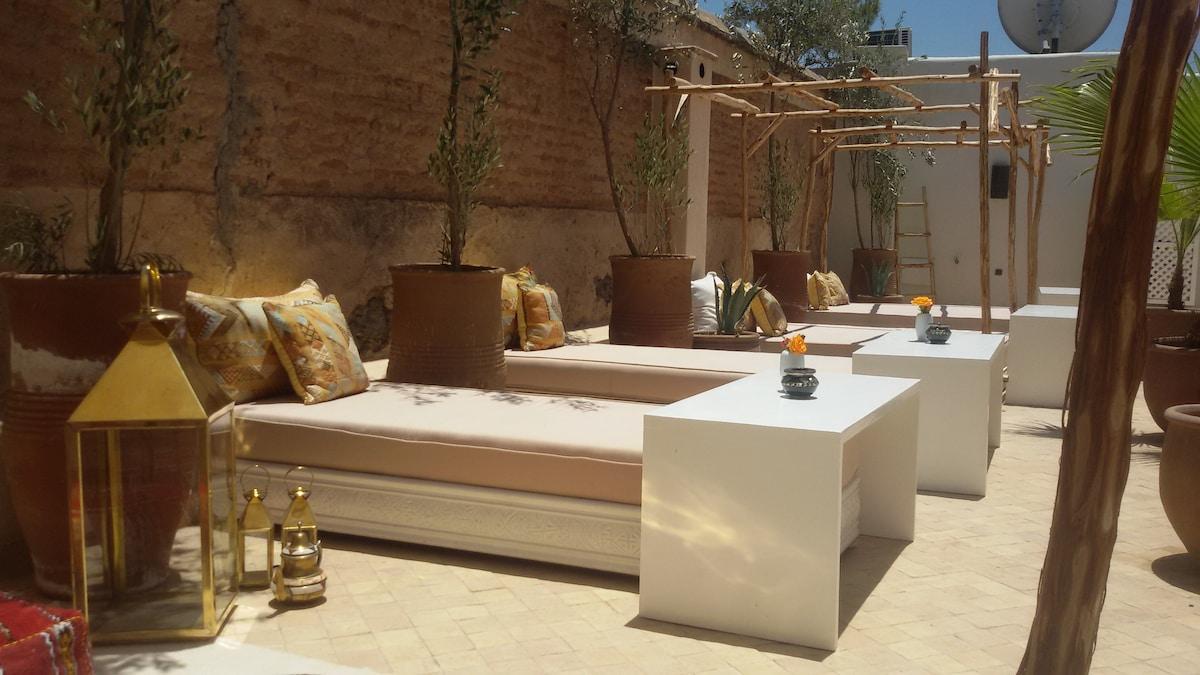 Riad pool Marrakeck