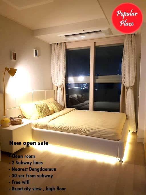 ★東大門,Dongdaemun walk 5min,city view - Dongdaemun-gu - Apartment