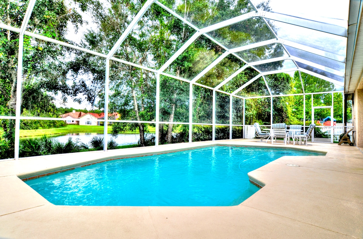 "Some non-Floridians wonder about the ""cages"" around Floridan pools. They are mosquito netting."