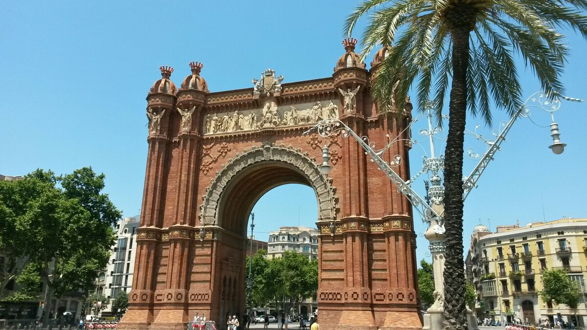 Comfortable room in Arc de Triomf