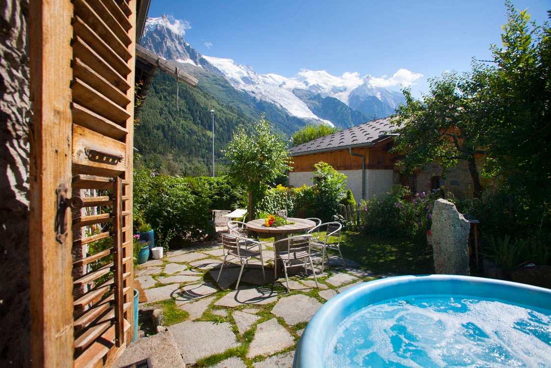 View from The Garden warning sorry Jacuzzi working in summer!!