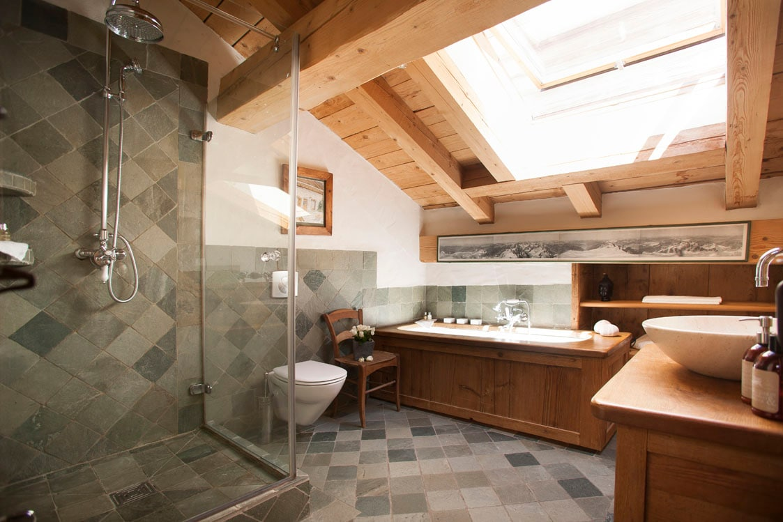 Your bath room, that is found upstairs