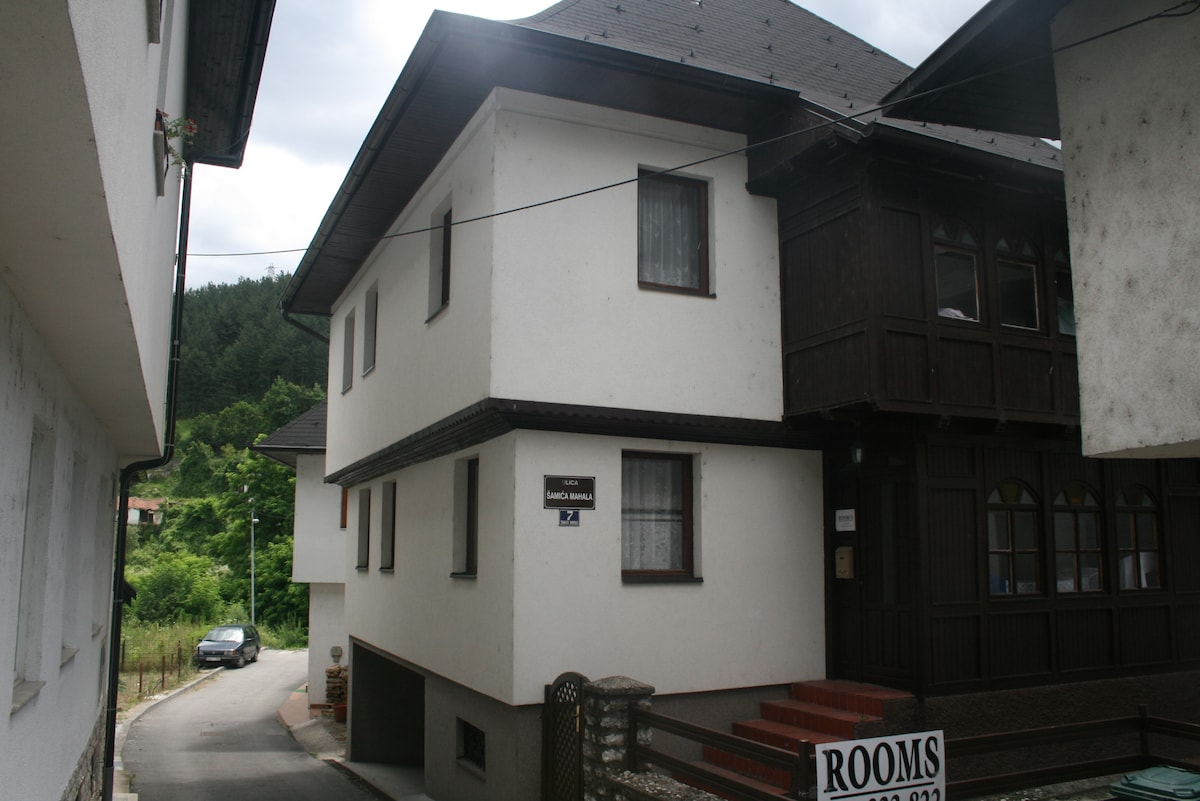 Traditional hause in center od town