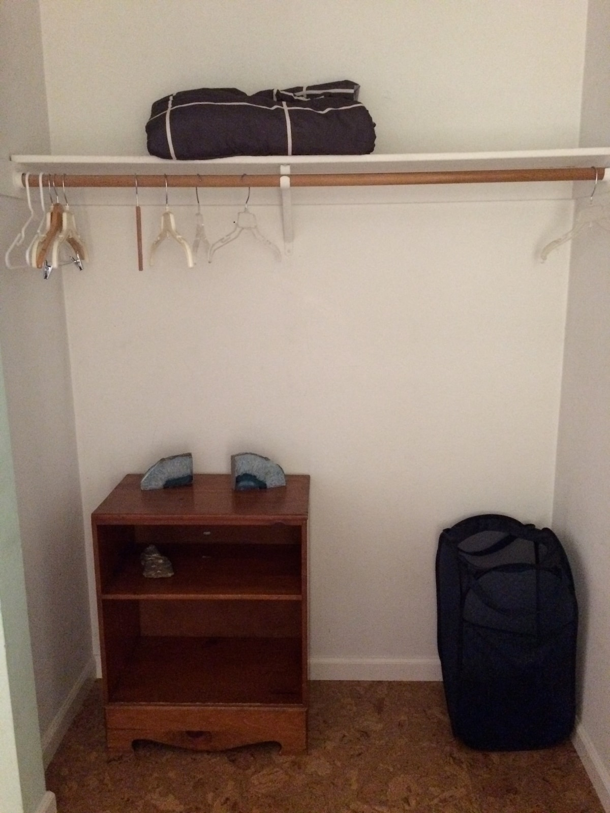 Where you can hang your clothes.