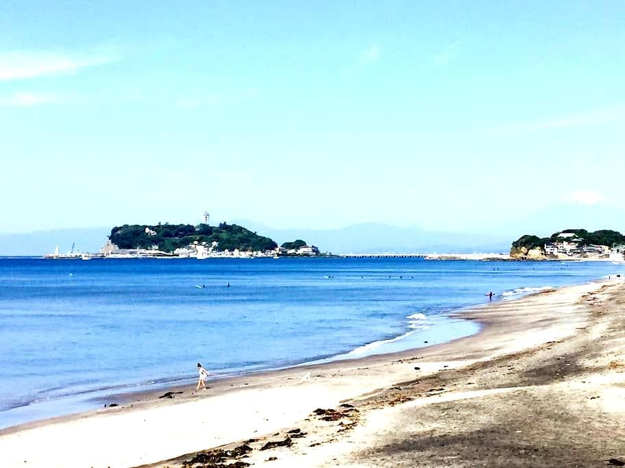 #B-6Kamakura Walk to Beach 鎌倉・七里ガ浜駅、ビーチ徒歩1分 - Kamakura-shi - Hus