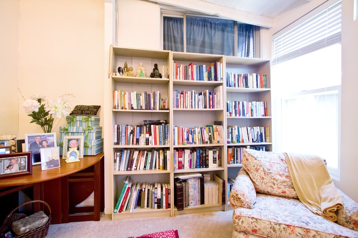 Reading area in family room
