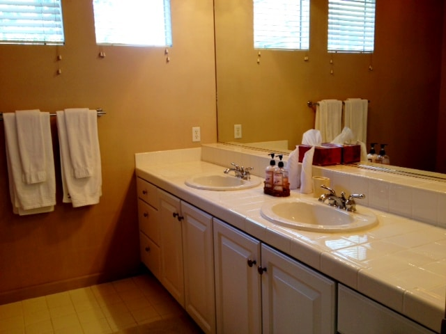 Master bathroom with shower.  Fresh and clean towers will be provided