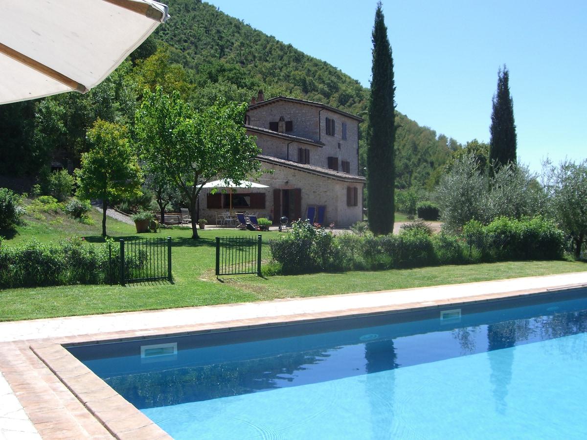 Acquasparta Villa with swimmingpool