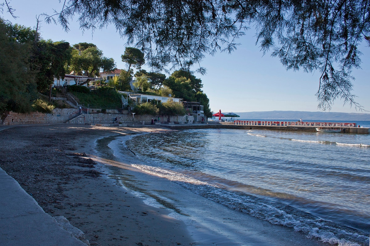 Early in the morning,  sandy beach Firule - just 5 minutes from the apartment