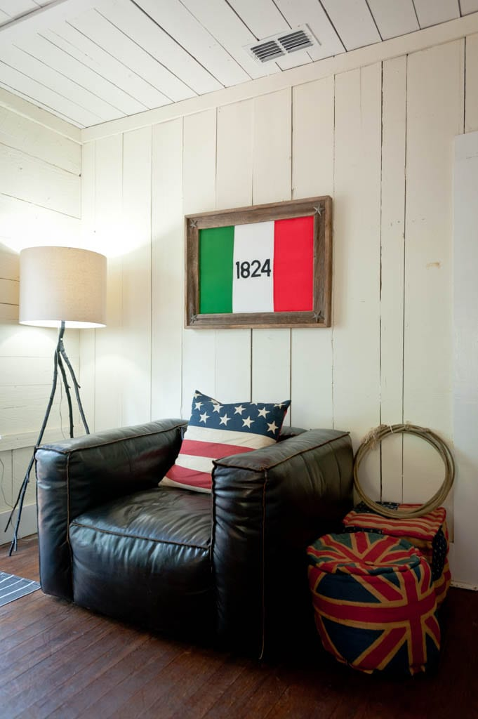 Texas Size Lounge The Battle of the Alamo Flag West Elm Light