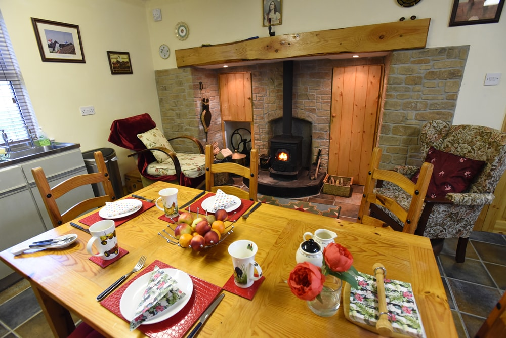 The traditional kitchen is the heart of every farmhouse.