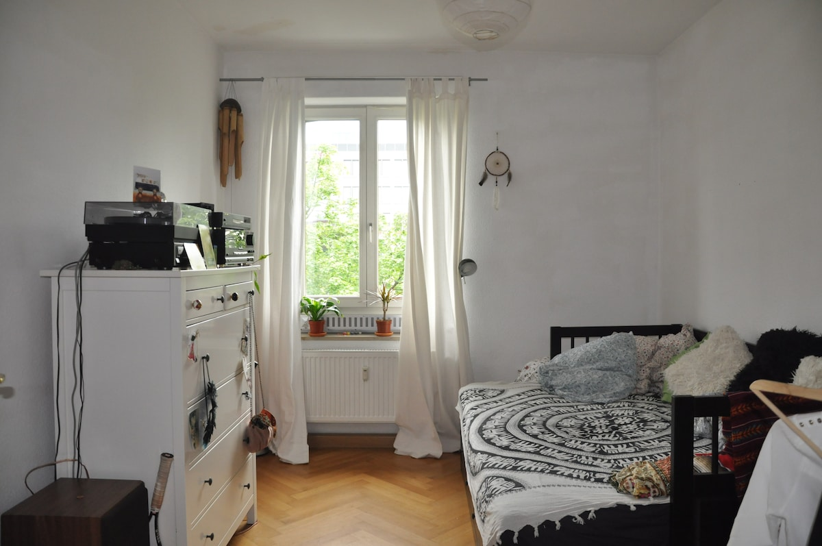 nice&brigh room in flat + balcony